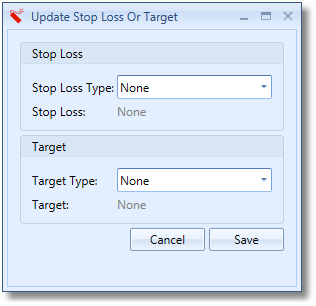 Update Stop Loss And Target Window
