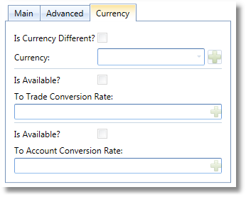 Trade Expense Currency Settings