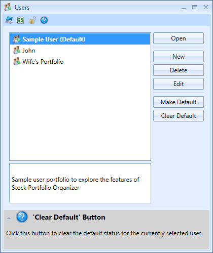 List Of Users In Stock Portfolio Organizer