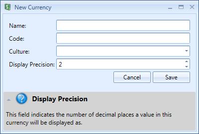 New Currency Window | Stock Portfolio Organizer