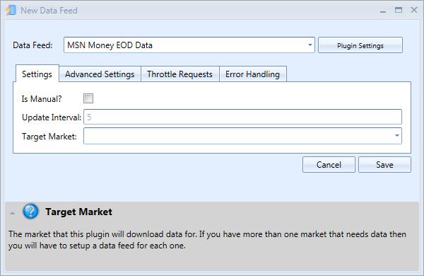 New MSN Money Data Feed Window | Stock Portfolio Organizer